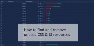 How to find and remove unused CSS JS resources